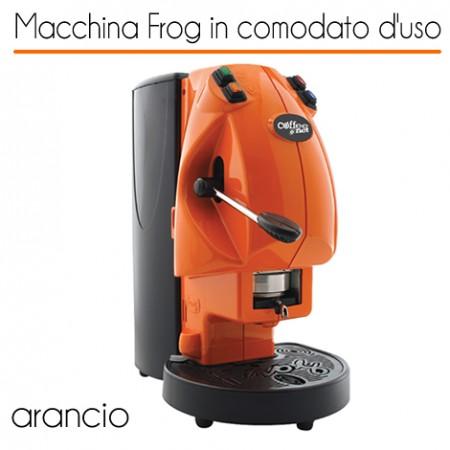Macchina caffè FROG ARANCIO in comodato d'uso con 600 cialde