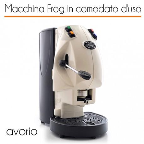 Macchina caffè FROG AVORIO in comodato d'uso con 600 cialde