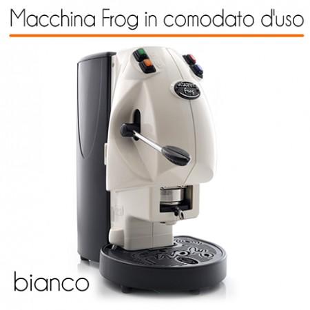 Macchina caffè FROG BIANCO in comodato d'uso con 600 cialde