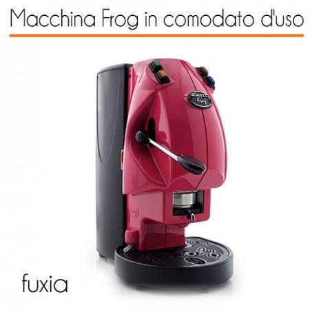 Macchina caffè FROG FUXIA in comodato d'uso con 600 cialde