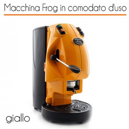 Macchina caffè FROG GIALLO in comodato d'uso con 600 cialde