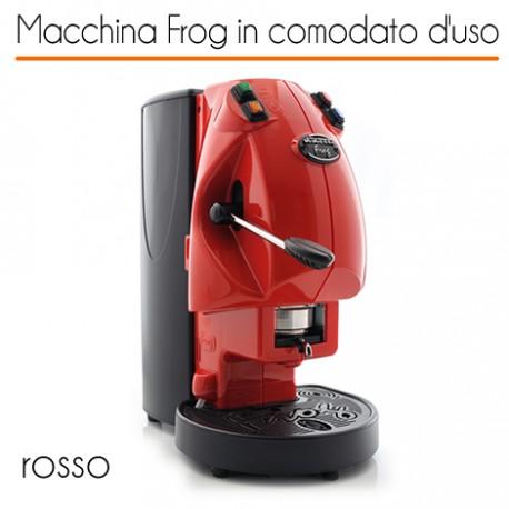 Macchina caffè FROG ROSSO in comodato d'uso con 600 cialde