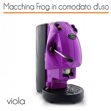 Macchina caffè FROG VIOLA in comodato d'uso con 600 cialde