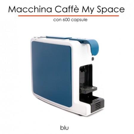 Macchina caffè MYSPACE BLU in comodato d'uso con 600 capsule