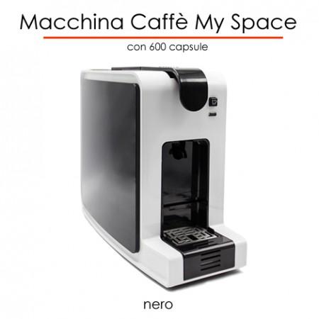 Macchina caffè MYSPACE NERO in comodato d'uso con 600 capsule