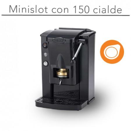 Macchina  MiniSlot Ø 44 mm NERO con 150 cialde E.S.E.