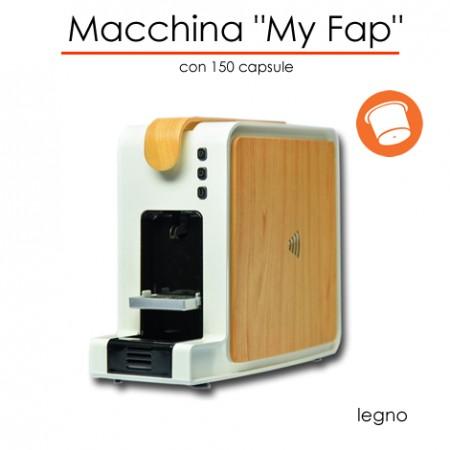 Macchina MyFap LEGNO con 150 capsule