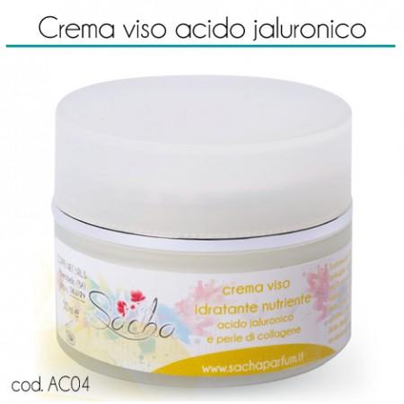 48058 Crema viso all'acido jaluronico e perle di collagene