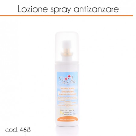 48464 Spray antizanzare olio essenziale di geranio e citronella