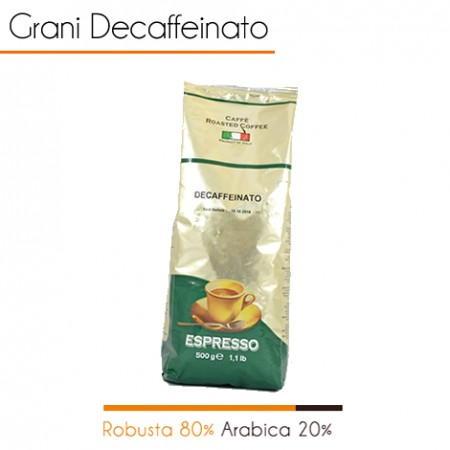 1 kg  Caffè in grani DECAFFEINATO